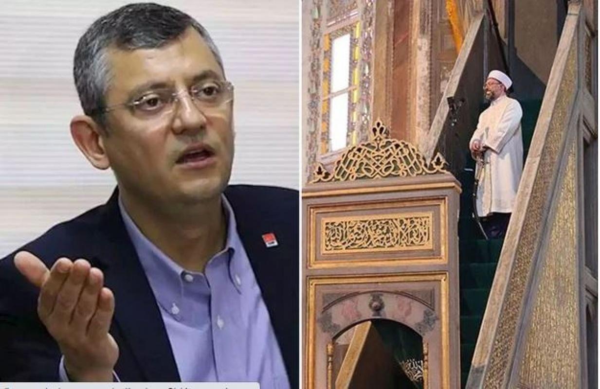 CHP Grup Başkanvekili Özgür Özel Ali Erbaş'a sert çıktı!