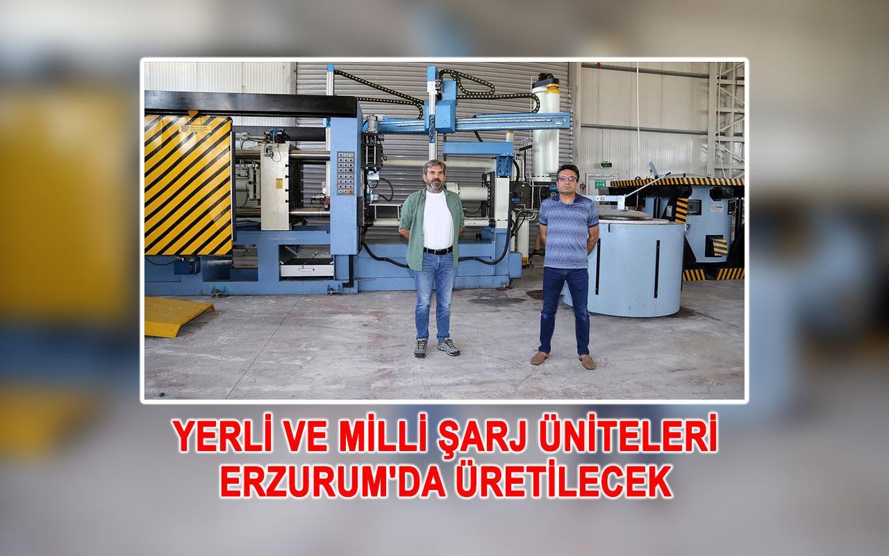 Erzurum'da elektrikli araçların yerli ve milli şarj üniteleri üretilecek