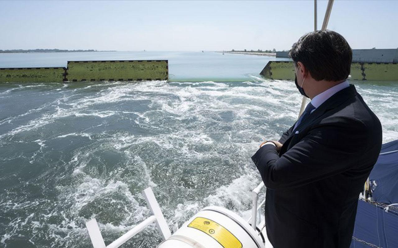 Venedik MOSE Projesi'ndeki bariyerler ilk kez test edildi