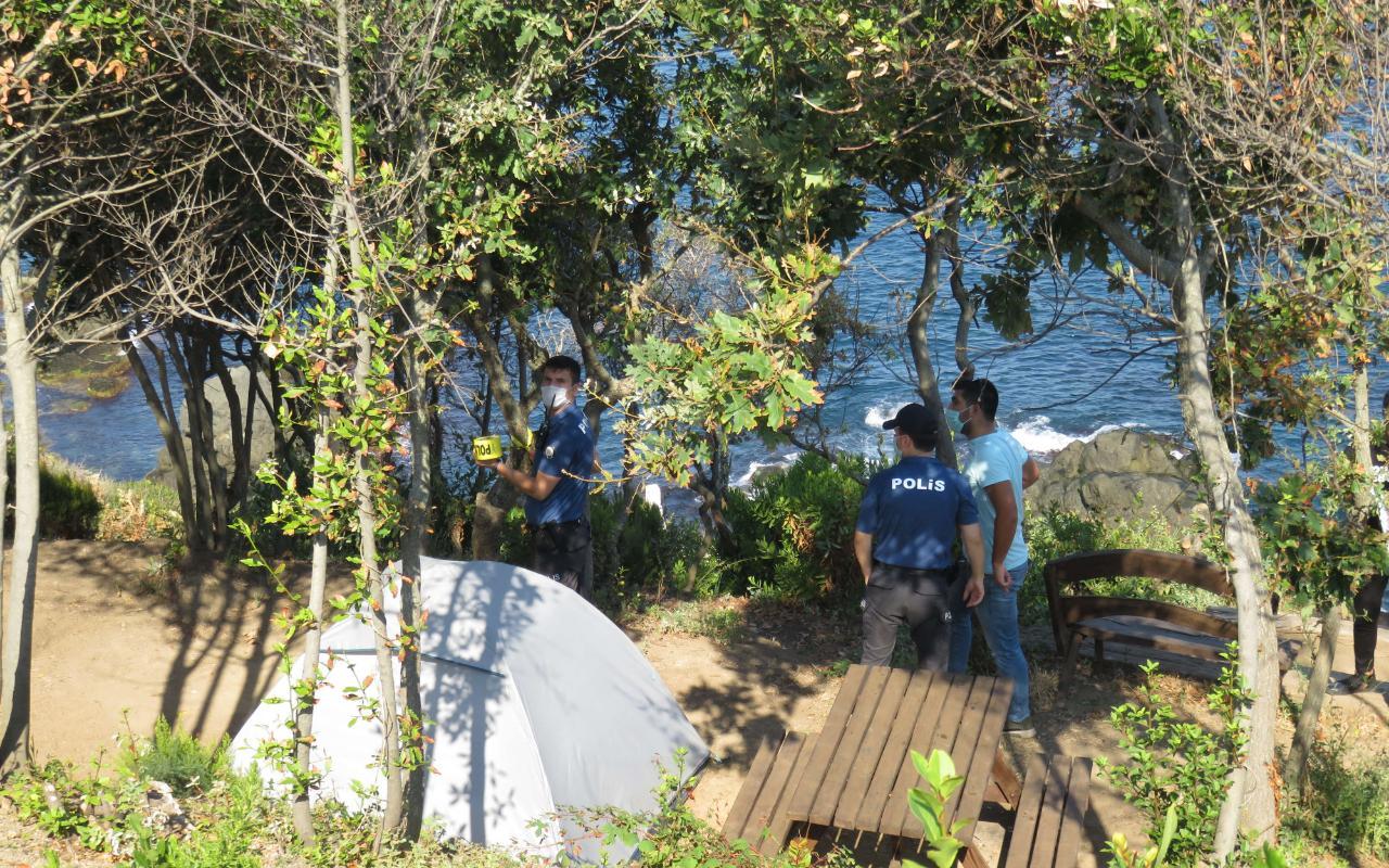 Beykoz RİVA'da bulunan kamp alanında şok eden ölüm