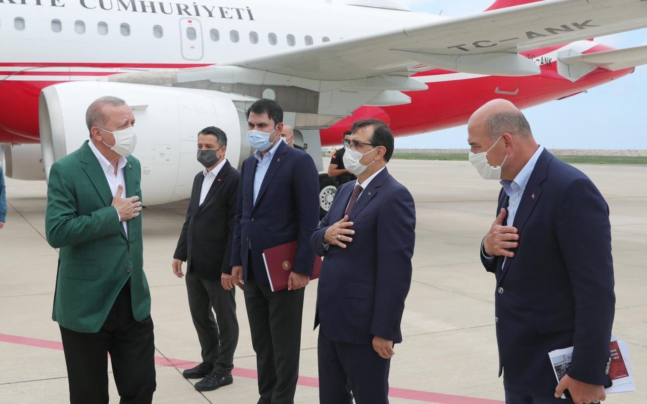 Cumhurbaşkanı Recep Tayyip Erdoğan Giresun'da