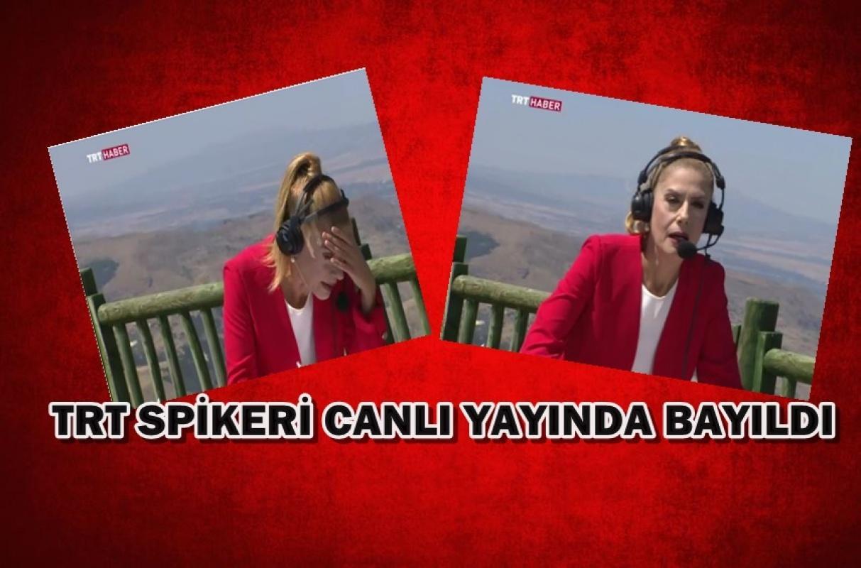 TRT Spikeri canlı yayında bayıldı yürekler ağza geldi