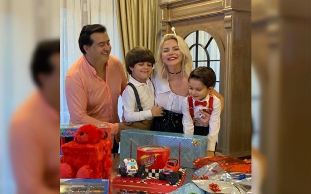Seda Üren iki oğluna çifte doğum günü yaptı