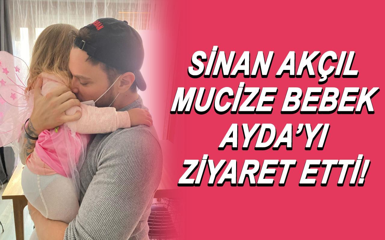 Ünlü şarkıcı Sinan Akçıl minik Ayda'yı ziyaret etti!