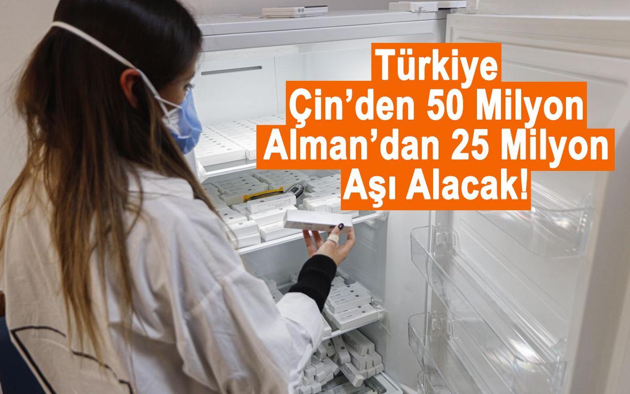 Türkiye Çinden 50 milyon Almandan 25 milyon aşı alacak