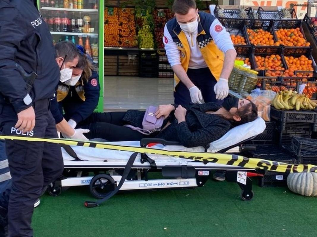 İstanbul Kadıköy'de manavda silahlı saldırı