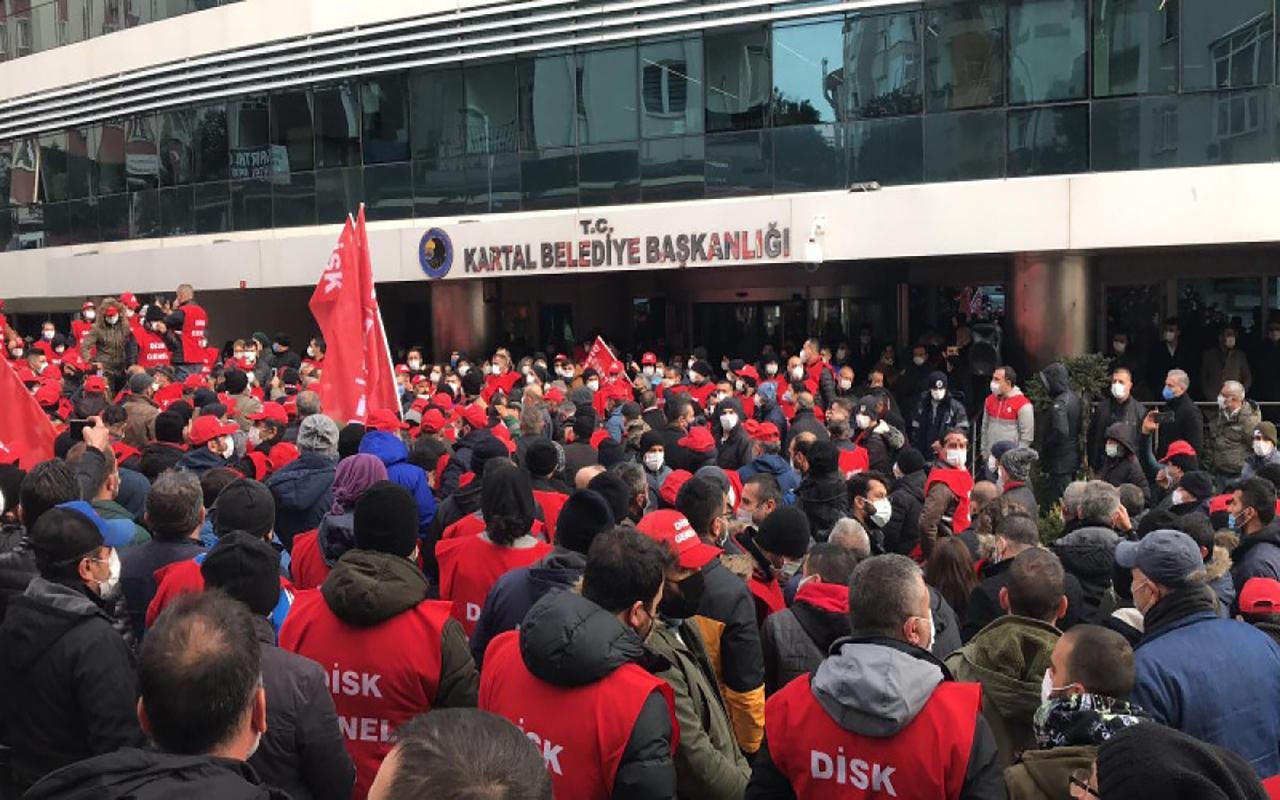 İstanbul Kartal Belediyesi'nde neler oluyor? İşçiler eyleme başladı