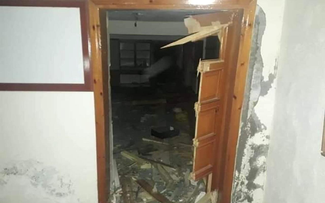 Kayseri'nin Develi ilçesi'nde bir Camiye yıldırım düştü