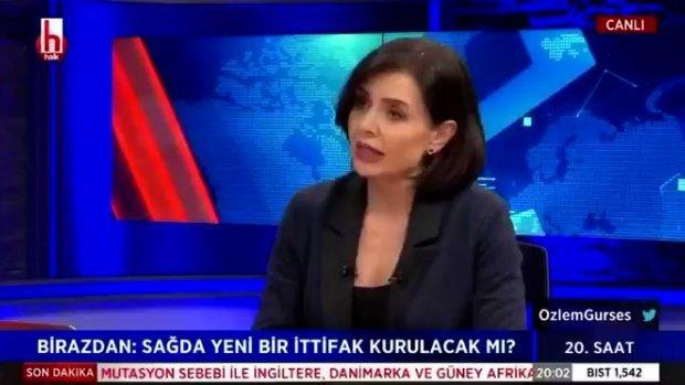Özlem Gürses  halk tv de Gülnaz Şırınga söylemleri ile sosyal medyada alay konusu oldu